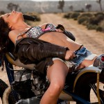 Beth-Williams-Playboy-Model-Posing-on-a-Motorcycle