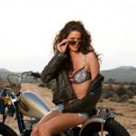 Playboy-Model-Beth-Williams-Posing-with-a-Motorcycle-Wearing-Leather-Jacket-and-Aviator-Sunglasses